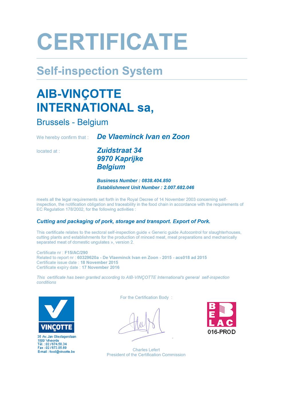 ACS certificaat